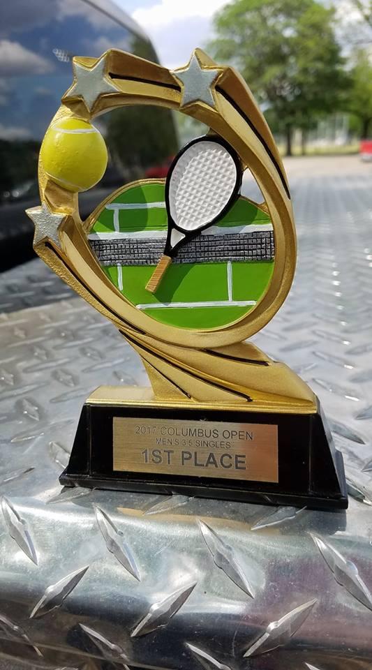 Kirkwood trophy Ed Kirkwood wins Columbus Open 3.5 Singles